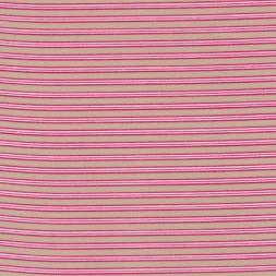 Stribet bomuld beige/pink/hvid-20