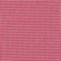 Små-ternet bomuld rød/hvid-20