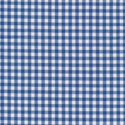 Bomuld ternet hvid/blå 5x5 mm.-20