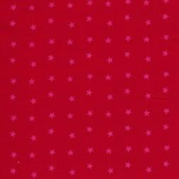 Bomuld m/stjerner, rød/pink-20