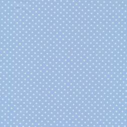 Bomuld m/prikker, lyseblå/hvid-20