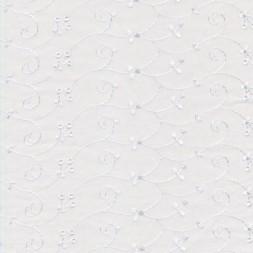 Broderi anglaise m/blankt broderi, hvid-20