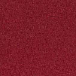 Små-prikket bomuld mørk rød/rød-20