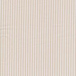 Bomuld stribet hvid/beige-20