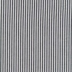 Bomuld stribet hvid/koksgrå-20