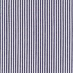 Bomuld stribet hvid/mørkeblå-20