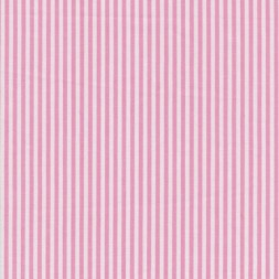 Bomuld stribet hvid-lyserød-20