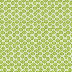 Bomuld m/lille mønster hvid/grøn-20