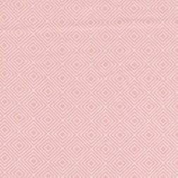 Bomulds-poplin m/rude-mønster, babylyserød-20