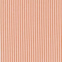 Bomuld stribet hvid/orange-20