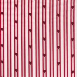 Bomuld m/striber/stjerner, hvid/rød-20