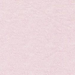 Bomuld m/cirkel/prikker hvid/babylyserød-20