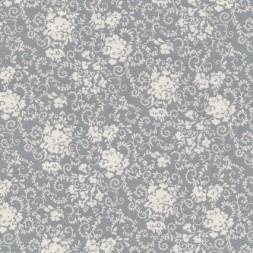 Bomuld m/blomster lysegrå/hvid-20