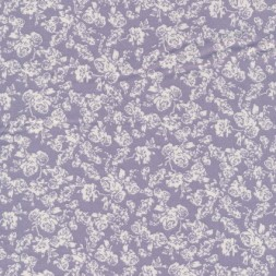 Bomuld m/roser lyselilla/hvid-20
