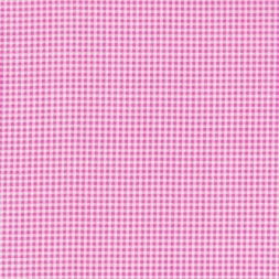Små-ternet bomuld pink/hvid/lyserød-20