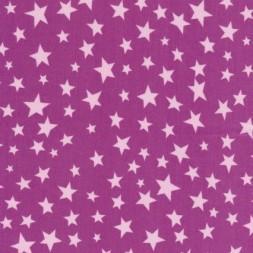 Bomuld m/stjerner, cerisse/lyserød-20