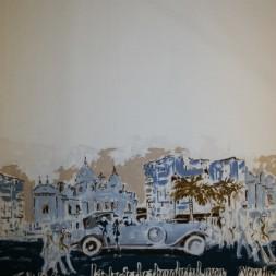 Bomuld m/bort bil/huse knækket hvid/blå-20