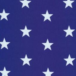 Bomuld m/hvide stjerner, klar blå-20