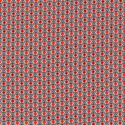 Let bomuld m/retro print hvid/sort/orange-rød-20
