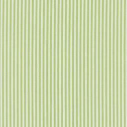 Bomuld stribet hvid/lime-20