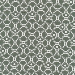 Bomuld mønstret støvet grøn/hvid-20