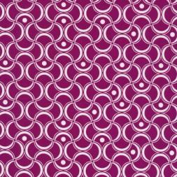 Bomuld mønstret cerisse/hvid-20