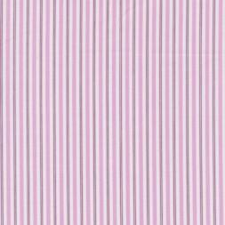 Stribet bomuld/polyester hvid/lyserød-20