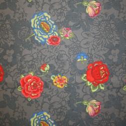 Grå bomuld m/blomster-20