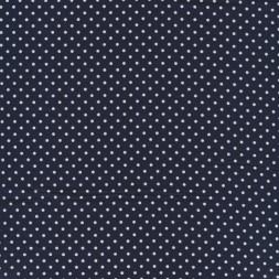 Bomuld m/hvide små prikker, mørkeblå-20