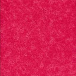Bomuld batik med blomster i koral rød-20