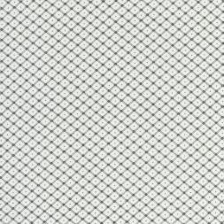Hvid bomuld polyester med lille sort rude-mønster-20