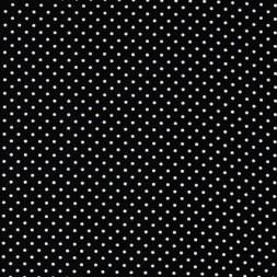 Bomuld m/hvide små prikker, sort-20