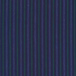 Bomuld stribet blå klar blå græsgrøn-20