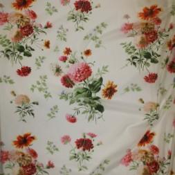 Bomulds-voil blomstret i knækket hvid lyserød rød-20