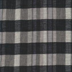 Rest Ternet/stribet let bomuld sort grå hvid, 45 cm.-20