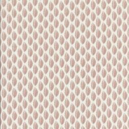 Bomulds poplin med blade hvid og pudder-20