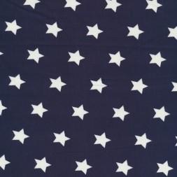 Bomuld med stjerner marine og hvid-20
