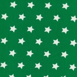 Bomuld med stjerner græsgrøn og hvid-20