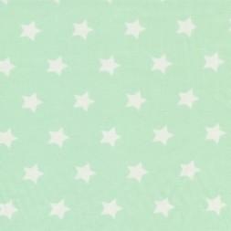 Bomuld med stjerner lys mint og hvid-20