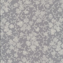 Bomuld m/blomster skærme lysegrå/hvid-20