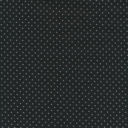 Bomuld m/stræk og hvide små prikker, sort-20
