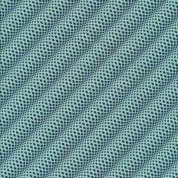 Bomuld mønstret med små ruder i mint og petrol-20