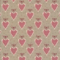 Bomuld med hjerter i sand gammel rosa offwhite-20