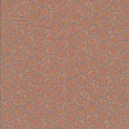 Bomuld med blomster i cirkel, pudder-20