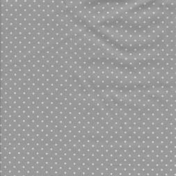 Bomuld med små prikker i lysegrå og hvid-20