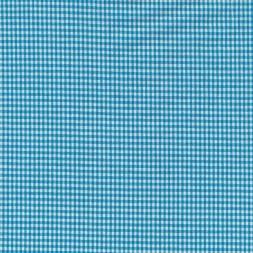 Små-ternet bomuld turkis/hvid-20
