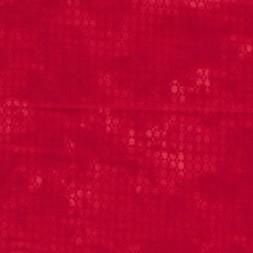 Bomuld batik med prikker i rød og koral-20