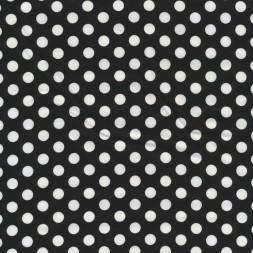 Bomuld med prikker i sort og hvid-20