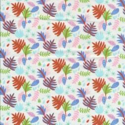 Bomuldspoplinmedbladeihvidblorange-20