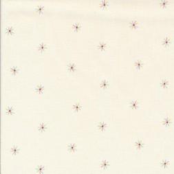 Bomuld i offwhite med lille stjerne i pastel farver-20